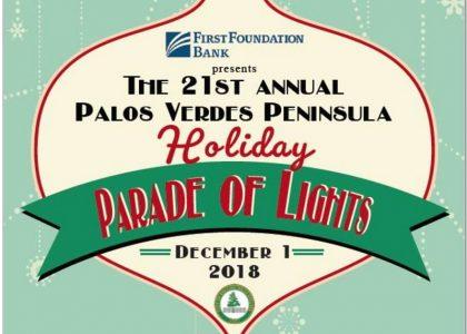 Palos Verdes Peninsula Holiday Parade of Lights 2018